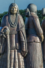 Bronze sculpture of native american women