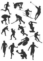 Silhouette - sport - ski - velo