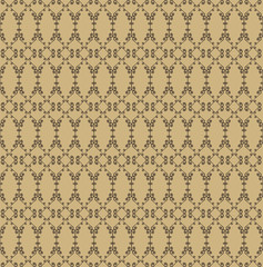 Ornamental seamless pattern. Beige and brown colors.  Endless template for wallpaper, textile, wrapping, print, interior, floor, fabric. Abstract texture. Traditional ethnic ornament for  design.
