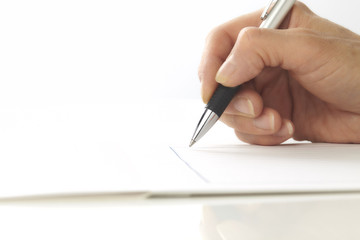 ペン習字 手