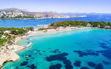 Der berühmte Celebrity Astir Beach in Vouliagmeni, Athen, Griechenland Fototapete