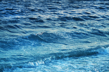 Photo background blue water