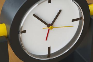 Clock arrows closeup image. 3D illustration.