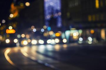 city night traffic  Fotomurales