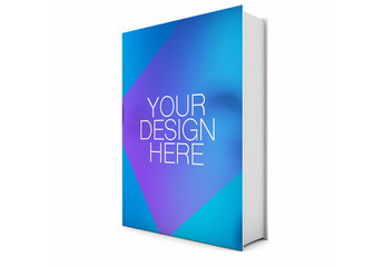 Hardcover Book Mockup Isolated on White Mockup 1