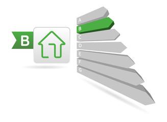 Energy Efficiency - house, vector illustration