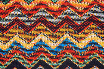 Texture of  fabric with  traditional Mexican pattern