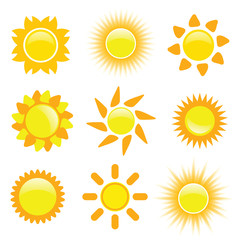 sun vector collection illustration