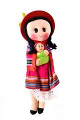 bambola rappresentante indiani Mapuche del Chile