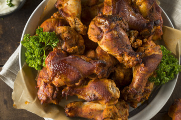 Wall Mural - Spicy Smoked Chicken Wings