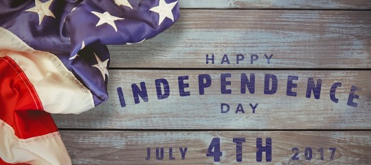 Composite image of happy 4th of july text on white background
