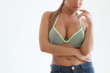 Beautiful female breast