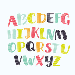 1080271  Cute abc design for book cover, poster, card, print on baby's clothes, pillow etc. Colorful letters composition.