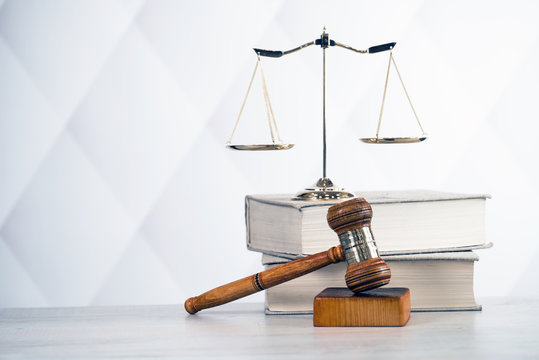 Law Composition on bright background