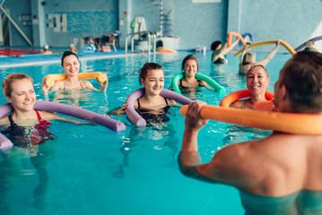 Aqua aerobics, healthy water sport