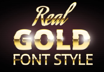 Gold Text Style Set 2