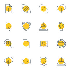 Vector Illustration Of 16 Internet Icons. Editable Pack Of Removing File, Bug, Router And Other Elements.