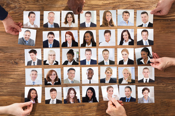 Businesspeople Selecting The Candidate Portrait Photo