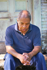 African american male returns to the house where he was abused.