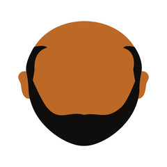 Adult faceless head icon vector illustration graphic design