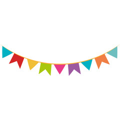 party garlands isolated icon vector illustration design