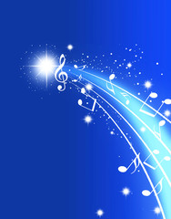 五線譜 楽譜 星空