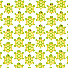 cute turtle pattern background vector illustration design