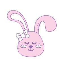 teddy rabbit girl head animal wild