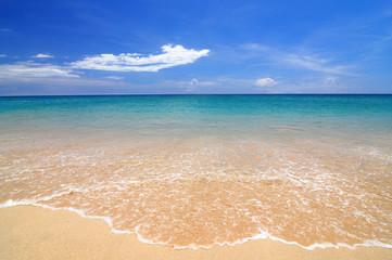 The Beach beautiful sea and bright daylight.