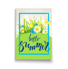 Summer time template card