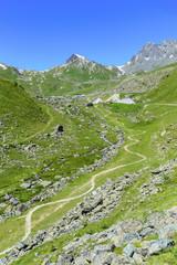 Downhill-Route für Mountainbiker in Samnaun