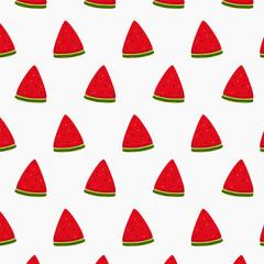 watermelon slice pattern vector design