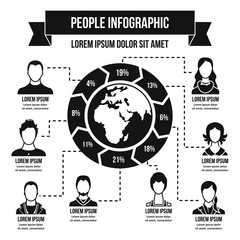 People infographic concept, simple style