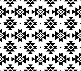 Aztec vector pattern, Tribal background, Navajo design in black pattern on white