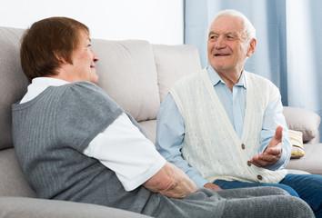 Aged couple enjoying evening