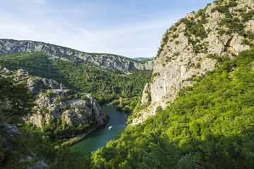 Canyon of Cetina River near Omis, Croatia
