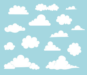 Cartoon Cloud Illustration Set