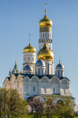 Fragment of arhitectural complex of Kremlin in Moscow, Russia.