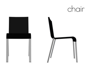 chair silhouette on white background