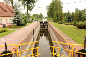 Sluice on the Notec Canal in Labiszyn, Poland