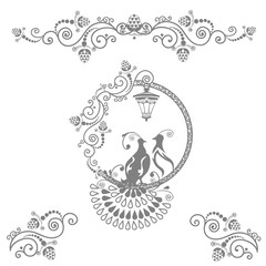Fairy wedding birds