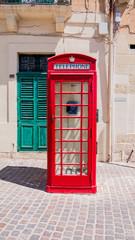 Original Englische Telefonzelle, Modell K6, rot, BJ 1936-1962 auf Malta