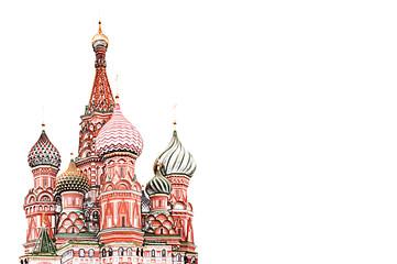 Saint Basil's Cathedral illustration - Color Pencil Fototapete