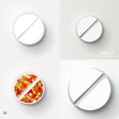 Pill in Blister Pack : Vector Illustration