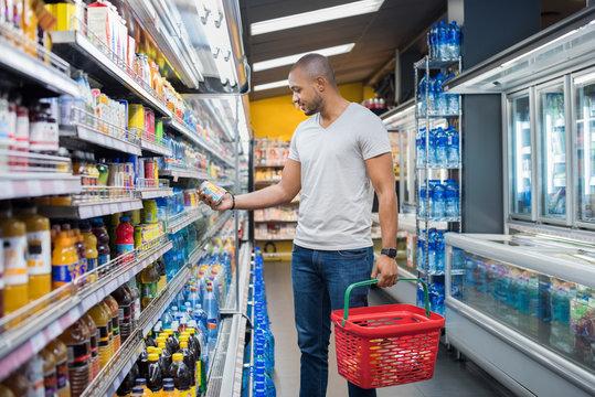 Man at supermarket