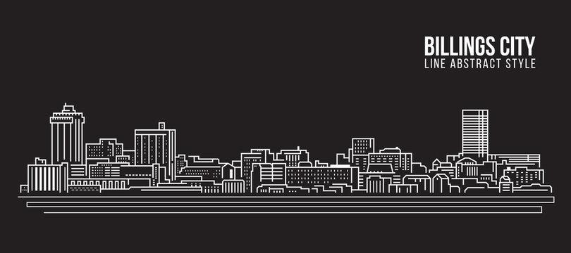 Cityscape Building Line art Vector Illustration design - Billings city