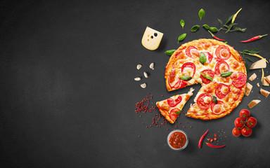 Tuinposter Pizzeria pizza-f