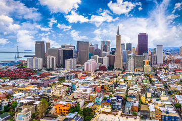 San Francisco, California, USA Skyline Wall mural