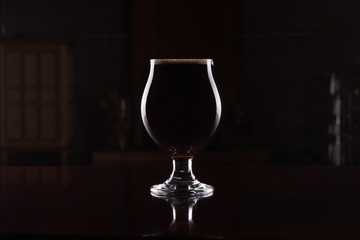 Imperial Stout Beer in Goblet Wall mural