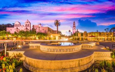 San Diego, California, USA plaza.